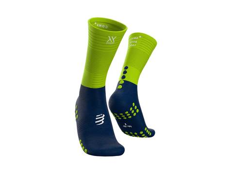Носки Mid Compression Синий/Лайм