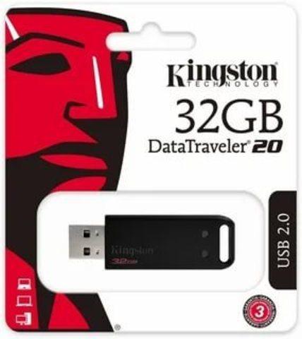 USB флэш-диск Kingston 32GB DataTraveler  DT20  чёрный