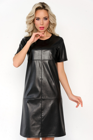 """<p>Кожаное платье """"Миннесота"""" поможет создать Вам стильный образ для весеннего гардероба. В сочетании с трикотажем -эко-кожа создает уют и комфорт. (Длины: 46-92см; 48-94см; 50-96см; 52-98см)</p>"""