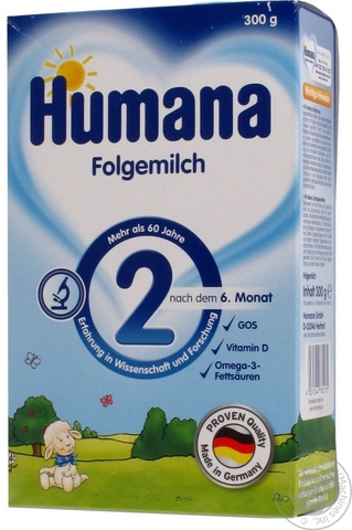 Сухая молочная смесь Humana с пребиотиками 2 300 гр