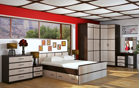 Кровать 1,4м Сакура БТС Венге/лоредо