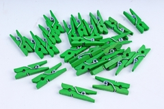 Прищепки 2,5см зеленые (24шт в уп)  9934