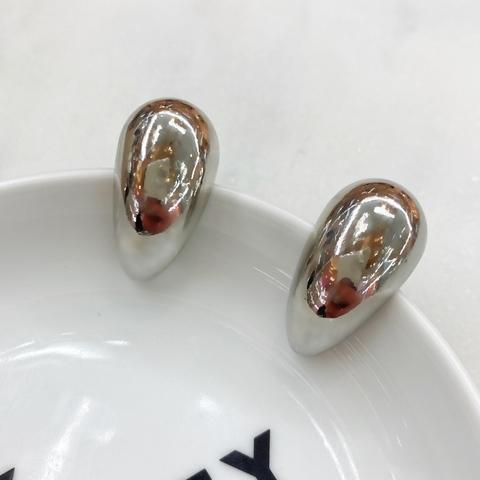 Серьги BASIC капля серебряные ш925