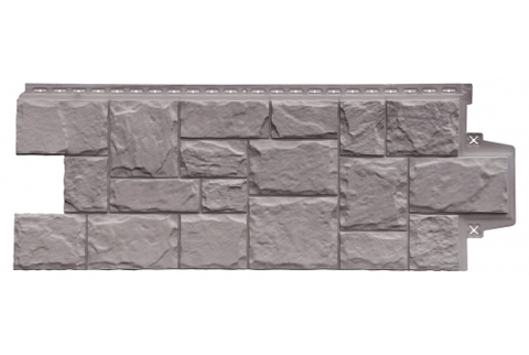 Фасадные панели  GRAND LINE (ГРАНД ЛАЙН) Крупный камень Элит Какао