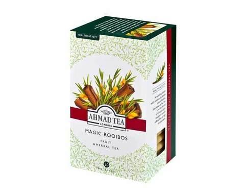 Чай травяной в пакетиках из фольги Ahmad Tea с апельсином и лимоном (Мэджик ройбуш), 20 пак/уп