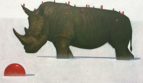 Rhino in milk