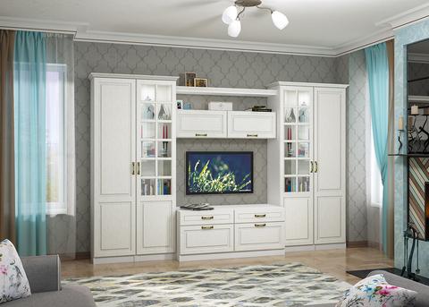 Набор мебели для гостиной Ливерпуль 3 Моби белый/ясень ваниль