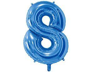 Цифра 8 синяя с гелием 65 см