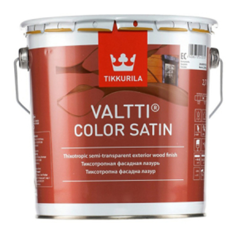 Tikkurila Valtti Color Satin/Тиккурила Валти Колор Сатин лессирующий антисептик для дерева
