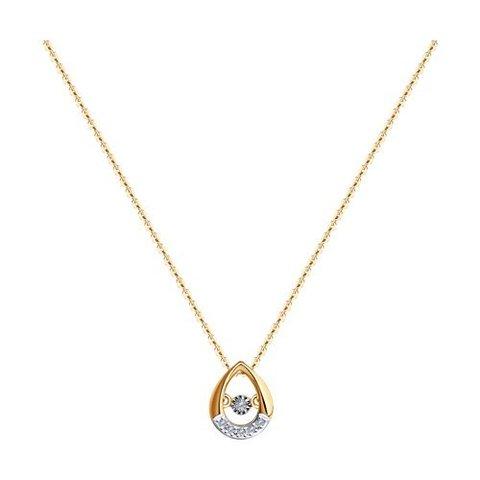 51-270-01252-1 - Колье из золота с подвеской капля с бриллиантами