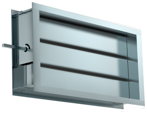 Shuft DRr 400x200 Воздушный клапан для прямоугольных воздуховодов с подставкой под электропривод