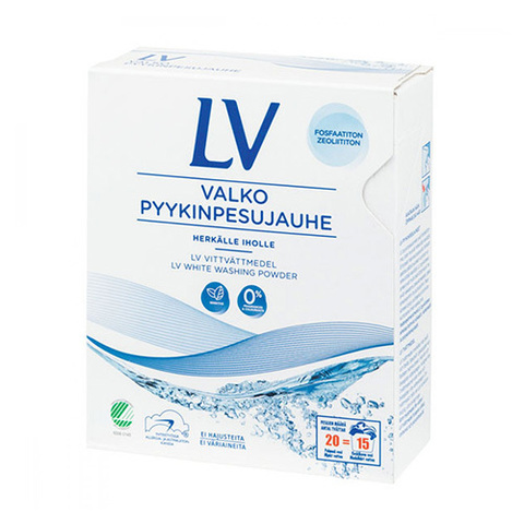 LV Гипоаллергенный концентрированный стиральный порошок для белого белья 750 гр., концентрат