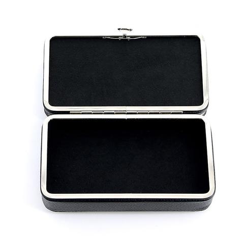 Маникюрный набор GD, 7 предметов, цвет черный, кожаный футляр