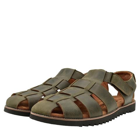 550210 сандалии мужские оливковые. КупиРазмер — обувь больших размеров марки Делфино