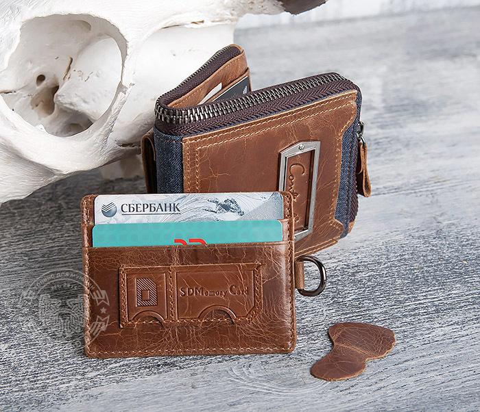 WL278-2 Необычное мужское портмоне из кожи с дополнительным отделением фото 13