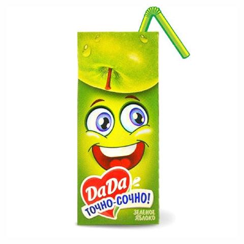 Сок DA-DA Яблоко б/сахара 0,2 л КАЗАХСТАН