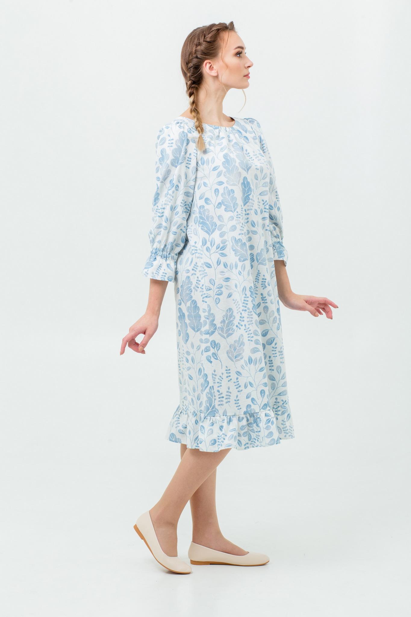 Платье из льна Голубая дымка