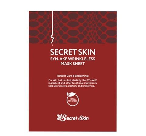 Тканевая маска со змеиным пептидом Secret Skin Syn-Ake Wrinkleless Mask Sheet