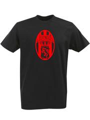 Футболка с однотонным принтом FC Juventus (ФК Ювентус) черная 0013