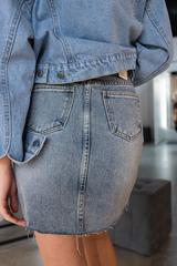 Джинсовая юбка молния спереди недорого