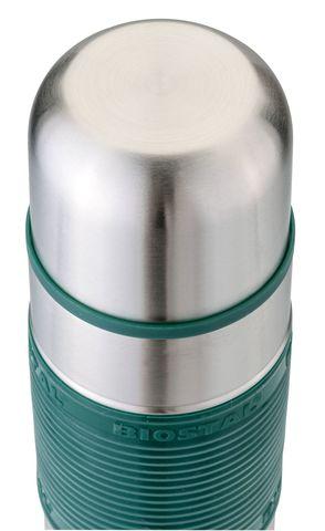 Термос Biostal Flër (0,75 литра) с силиконовой вставкой, зеленый
