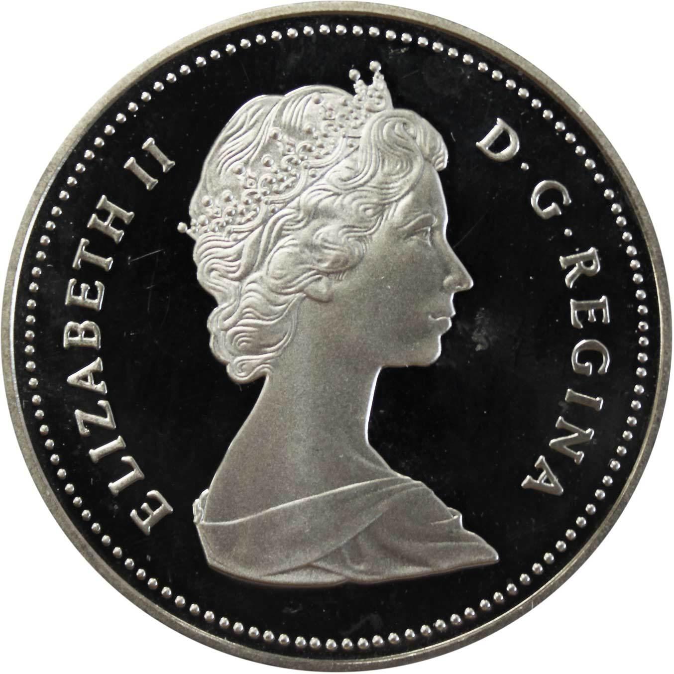1 доллар. Река Маккензи. Канада. 1989 г. PROOF. Серебро