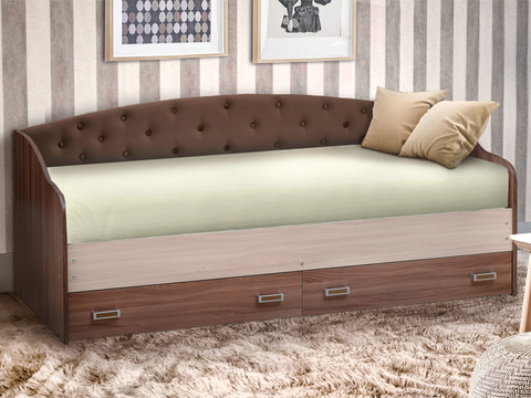 Кровать софа №8 с мягким элементом