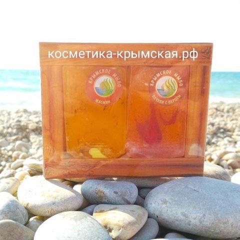 Набор мыло ручной работы «Жасмин + Пачули с Перцем»™Фитон-Крым