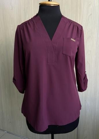 Ванда. Оригінальна жіноча блуза великих розмірів. Бургунді