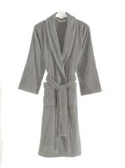 Мужской махровый банный халат SORTIE серый