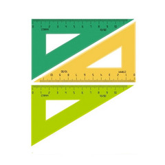 Треугольник Стамм пластиковый (10 см, пластик, 30 градусов)