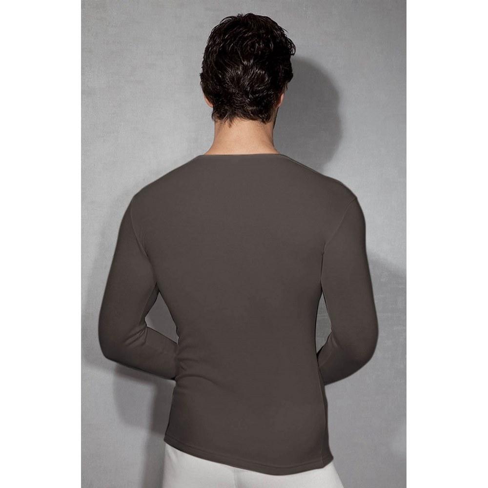 Мужская футболка с длинным рукавом термо Doreanse серая 2960