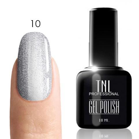 TNL Classic TNL, Гель-лак № 010 - серебро (10 мл) 10.jpg