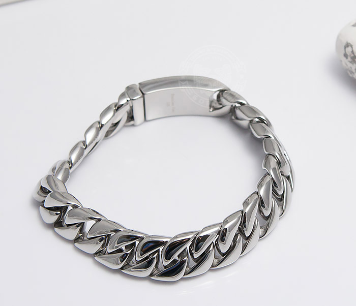 BM467-1 Классический браслет цепь из ювелирной стали (21,5 см) фото 03