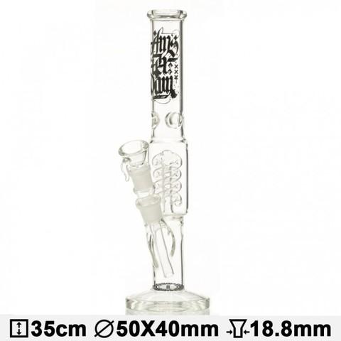 Бонг стеклянный AMSTERDAM ICE NOCHES - H:35CM- Ø: 50/40MM-SG:18.8MM