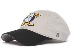 Бейсболка NHL Anaheim Ducks серая