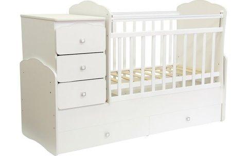 Кровать детская Фея 2100 белый