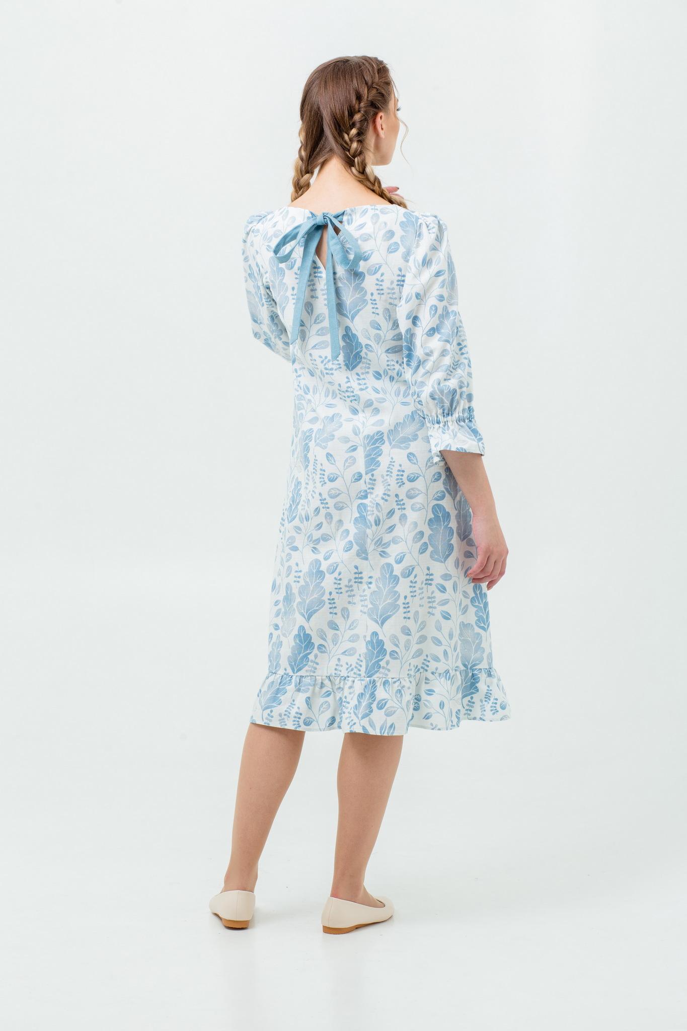 Платье в русском стиле Голубая дымка