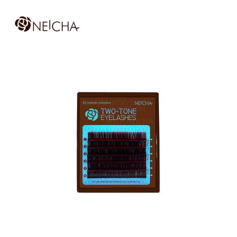 Ресницы NEICHA нейша MIX 6 линий двухцветные черно-красные