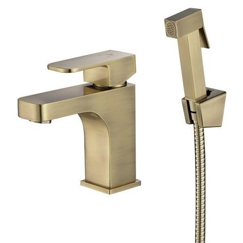 Смеситель KAISER Sonat  34088-1 бронза для раковины с гигиеническим душем