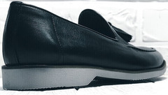 Мужские кожаные лоферы туфли классика Luciano Bellini 91178-E-212 Black.
