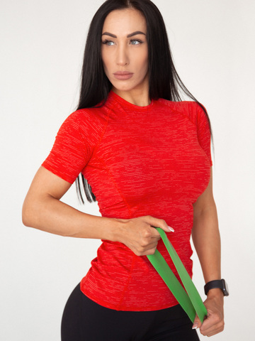 Футболка женская Lion gym MAXI PERFORATION T-SHIRT RED