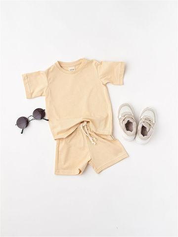 Комплект шорты+футболка (бежевый)