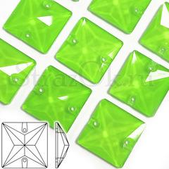 Неоновые пришивные стразы Neon Green, Square купить оптом