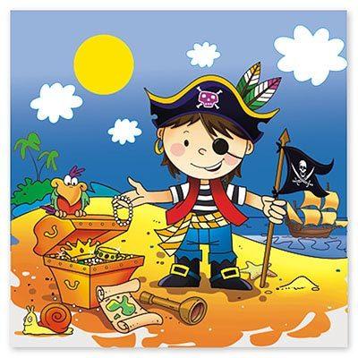 Салфетка Маленький пират 33см 12шт