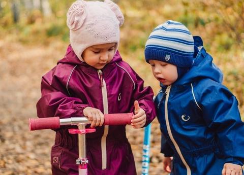 Непромокаемый комбинезон для детей васильковый