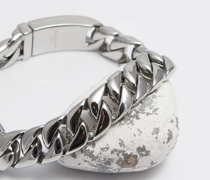 BM467-1 Классический браслет цепь из ювелирной стали (21,5 см) фото 05