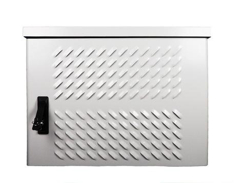 Шкаф ЦМО уличный всепогодный настенный 6U (Ш600 × Г500), передняя дверь вентилируемая ШТВ-Н-6.6.5-4ААА