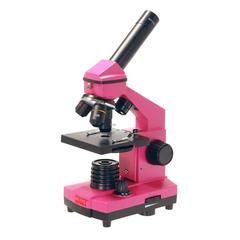 Микроскоп школьный Микромед Эврика 40х-400х в кейсе (фуксия)