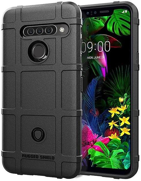 Чехол для LG G8S ThinQ цвет Black (черный), серия Armor от Caseport